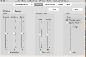 pitch view from Transcribe! best guitar transcription software