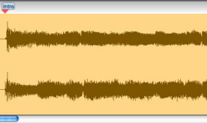 waveform from Transcribe! best guitar transcription software